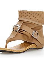 Chaussures Femme-Habillé / Décontracté-Noir / Marron-Talon Plat-Confort / Négligé / Bottes à la Mode-Bottes-Similicuir