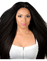 7A Unprocessed 100% Indian Glueless Virgin Human Hair Kinky Straight Style Full Lace Front Lace Hair Wig