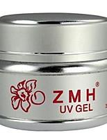 ZMH prego professtional gel extensão de arte transparents 30g polonês