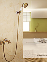 Shower Faucet Contemporary Waterfall / Rain Shower / Handshower Included Brass Chrome