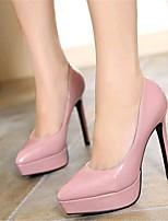 Zapatos de mujer-Tacón Stiletto-Tacones-Tacones-Boda / Fiesta y Noche-Semicuero-Negro / Rosa / Rojo