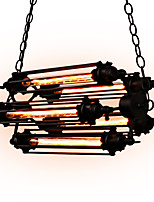 40W Rustic/Lodge Mini Style Painting Metal Pendant Lights Dining Room / Study Room/Office / Game Room / Garage