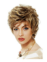 Women Short Curly Synthetic Hair Wig Blonde