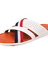 Zapatos de Hombre-Sandalias-Casual-Cuero-Blanco