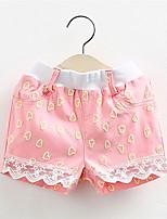 2016 Summer Fashion Children Kids Girls Heart Printed Cotton Shorts