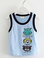 2016 Summer Style Cartoon Funny Animal Short Sleeve Vest T Shirt Tees Clothes For Boy Children T Shirts