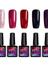 Modelones 5Pcs Gelpolish Nail Art Soak Off Gel Nail Polish for Nail Beauty SalonC103