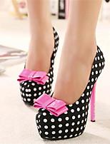 Zapatos de mujer-Tacón Stiletto-Tacones-Tacones-Fiesta y Noche-Tejido-Negro / Almendra