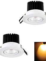Lampes Encastrées Décorative Blanc Chaud YouOkLight 2 pièces 7W 1 COB 650 lm AC 100-240 / AC 110-130 V
