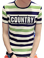 DMI™ Men's Round Neck Striped Letter Casual T-Shirt(More Colors)