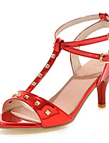 Women's Shoes Stiletto Heel /Sling back/Open Toe Heels Sandals Office & Career/Dress Pink/Red/Silver/Gray/Gold