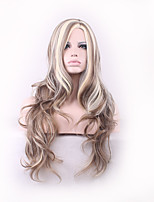 Women Long Cosplay Body Wave Synthetic Hair Wig Multi-color