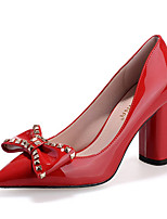 Scarpe Donna-Scarpe col tacco-Casual-Tacchi-Quadrato-Felpato-Nero / Rosso / Argento / Grigio