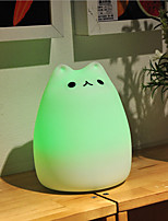 USB Silicone of Pet Animals Color-changing Smart Light  Emergency LED Night Light for Kids Room Home Decoration