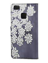 Blooming Flowers Magnetic PU Leather wallet Flip Stand Case cover for Huawei Ascend P9 Lite