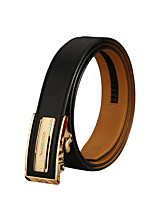 Men Calfskin Waist Belt,Party / Work / Casual Alloy