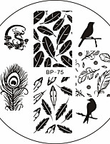 Birds Dragon Feather Nail Art Stamp Template Image Plate BORN PRETTY