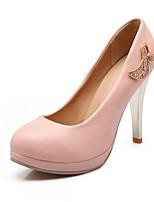 Scarpe Donna-Scarpe col tacco-Matrimonio / Ufficio e lavoro / Serata e festa-Tacchi-A stiletto-Finta pelle-Blu / Rosa / Bianco