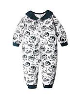Girl's White Overall & Jumpsuit,Floral Cotton Winter