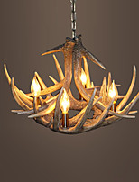 vintage Antler chandelier lighting Industrial Fixture Country 4-Lights Fit for Living Room Dining room Easy Installation