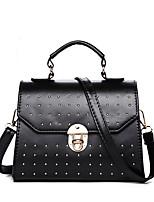 Women PU Baguette Shoulder Bag-Gold / Black / Burgundy