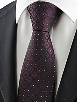 New Purple Black Gradient Checked JACQUARD Men's Tie Necktie Wedding Gift KT0077