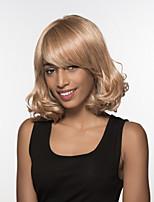 capless remy la main étonnante longueur moyenne ondulée femme attachée haut perruque