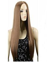 les nouveaux points bruns perruque de mode à longue perruque de cheveux raides