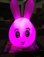 Creative Color-Changing Acrylic Colorful Lovely Expression of Rabbit LED  Night Light Home Decoration