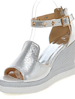 Women's Shoes Wedge Heel Wedges / Peep Toe / Platform Sandals Dress / Casual Silver / Gold
