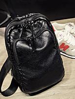 Women PU Sling Bag Shoulder Bag-Black