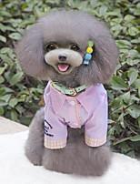 Cães Camisa / Roupa / vestuário Azul / Rosa Inverno / Verão / Primavera/Outono Clássico Casamento / Natal / S. Valentim / Da Moda-