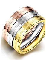 2016 Luxury Noble Cross 3 Color Titanium Steel Fashion Ring Set For Women Gift