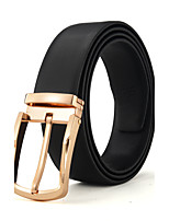 Men's Luxurious Double sided Genuine Leather Pin Buckle Belt Can Adjust Size