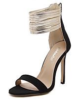 Women's Sandals Summer Sandals Fleece Casual Stiletto Heel Others Black / Almond Others