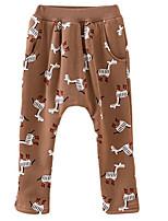 Girl's Brown / Yellow Pants Cotton Spring / Fall