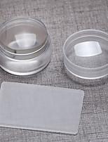 1pc 3.8cm Import Transparent The Silicone Big The Seal With Cover+ Big Scraper Super Brief Paragraph