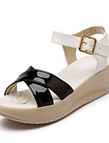 Women's Shoes Platform Comfort / Open Toe Sandals Dress / Casual Black / White / Black and White