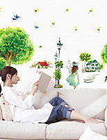 Mode / Paysage Stickers muraux Stickers avion,PVC 50*70cm(19.7*27.6 inch)