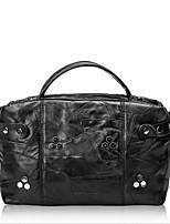 Women Sheepskin Baguette Shoulder Bag-Black