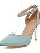 Women's Shoes Leatherette Stiletto Heel Heels Heels Office & Career / Dress / Casual Blue / Pink / White