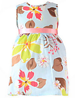 Girl's Dress,Cotton Spring / Fall Blue