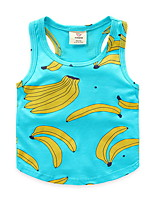 Summer Baby Boys' Sleeveless T-Shirts Vest Cartoon Banana Printed Sport Thin Undershirt Children's Clothing