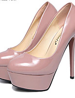 Women's Shoes Leatherette Stiletto Heel Heels Heels Party & Evening Black / Pink