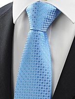 New Blue Checked Classic Men's Tie Necktie Wedding Party Holiday Prom GiftKT0056