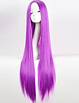 Cos Wig Purple in Long Straight Hair Wigs 100cm Long Wigs