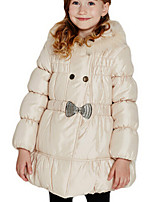 Girl's Beige Down & Cotton Padded Polyester Winter