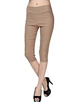 Women Solid Color Legging,Polyester / Spandex Medium