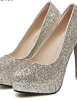 Scarpe Donna-Scarpe col tacco-Matrimonio / Serata e festa-Tacchi-A stiletto-Finta pelle-Rosa / Viola / Bianco / Dorato