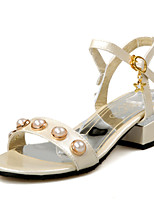 Women's Shoes Low Heel D'Orsay & Two-Piece / Open Toe Sandals Wedding / Party & Evening / Dress Pink / Silver / Beige